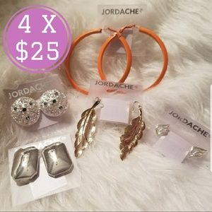 Jordache Vintage 5 earrings lot